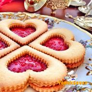 Marmelatlı Kalpli Cam Kurabiye